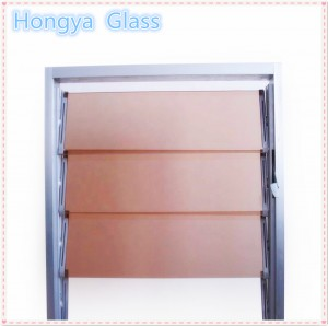 4mm 5mm bronze tinted louver glass for jalousie windows
