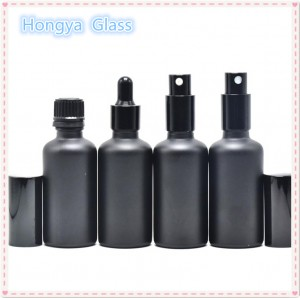 50ml Perfume Essential Oil Spray Matte Black Glass Bottle