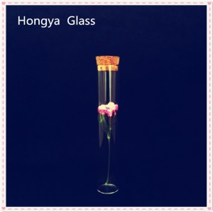 Borosilicate glass test tube with cork
