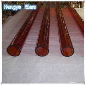 red colored borosilicate glass tube