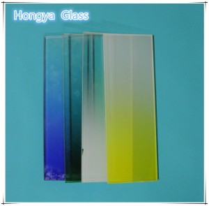 Color Gradient Frosted Glass  manufacturers