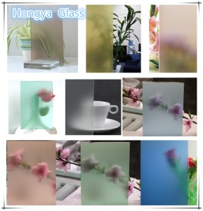 frosted glass manufacturers 6mm clear acid etched glass
