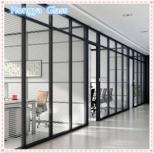Louvered windows decorative glass