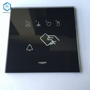 3mm Silkscreen Ceramic Printing Tempered Glass for Remote Control Door