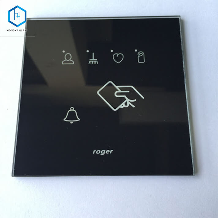 3mm Silkscreen Ceramic Printing Tempered Glass for Remote Control Door Featured Image
