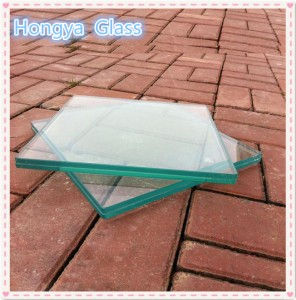 Tempered 1 inch thick laminated glass with high safety