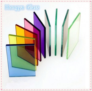 Top selling 6 mm laminated glass high quality colored tempered glass laminated glass price