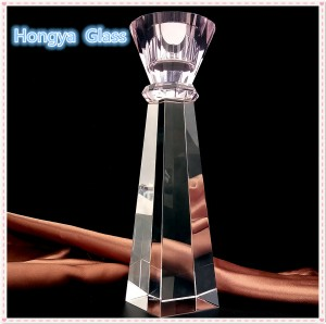 Wedding decorations long-stemmed glass Crystal glass Candle Holder