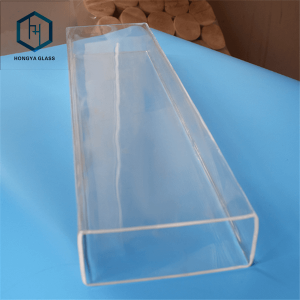 Customizable Strength Square Shape Quartz Tube square shape glass tube