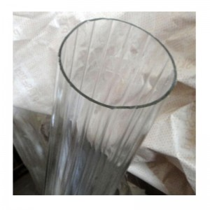 High borosilicate glass tubes, 2mm wall thickness inner stripe glass tube