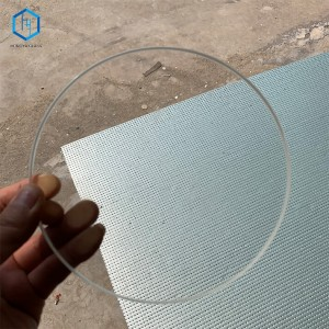 Diameter 160mm thickness 20mm High temperature resistant high Brorosilicate sight Glass,cover glass window