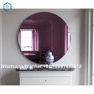 Purple Colour Mirror Decorative Glass Wall Mirror