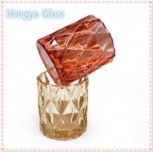 custom luxury fancy decorative glass candle holder