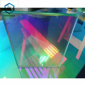 Color changeable Decorative Art Dichroic Gradient Laminated Glass for Building