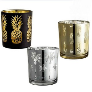 Wholesale Round Mercury Glass Votive Candle Holders for Weddings and Home Decor