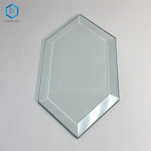 Hexagonal bevelled edge tempered glass furniture/glass home appliance