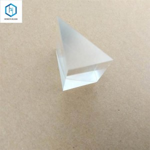 Optical glass right angle triangular prism for survey instruments