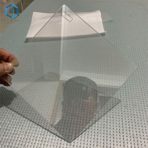 Customized beamsplitter glass for Teleprompter speech