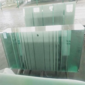 Chinese factory 10mm 12mm tempered glass with hole for shower door