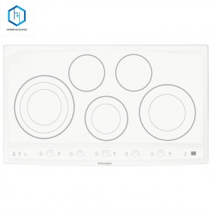 Heat Resistant Black Ceramic Glass Plate for Induction Cooking