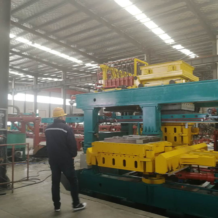 Automatic Sand molding unit is trail running