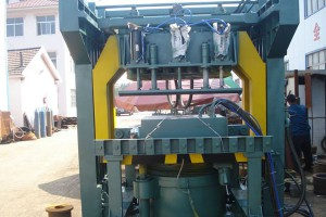 Pneumatic Multi-Contact Finger Internal Compaction Microseism Molding Machine