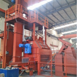 QBC01 Swing Bed Continuous Shot Blasting Machine