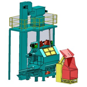 QBC03 Continuous Tumbling Drum Shot Blasting Machine