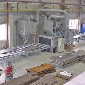 Continuous Pass Through Steel Plate Shot Blasting Machine