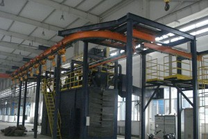 Hanger Type Continuous Catenary Shot Blasting Machine