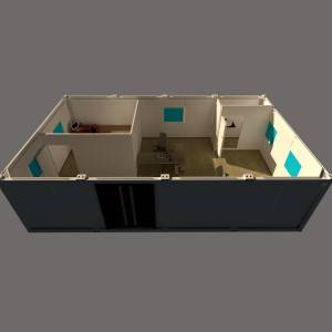 Free Design Good Price Modern Style 20ft flat pack Container Office from Qingdao China