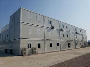 Prefabricated Knock Down Flat Pack Container House For  Worker Camp
