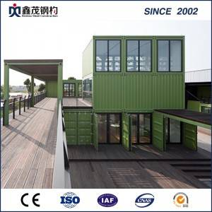 China Flat Pack Container House Office sudlanan uban sa Steel Frame