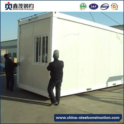China Insulation 20ft Prefab Container House para sa Camp Dormitory