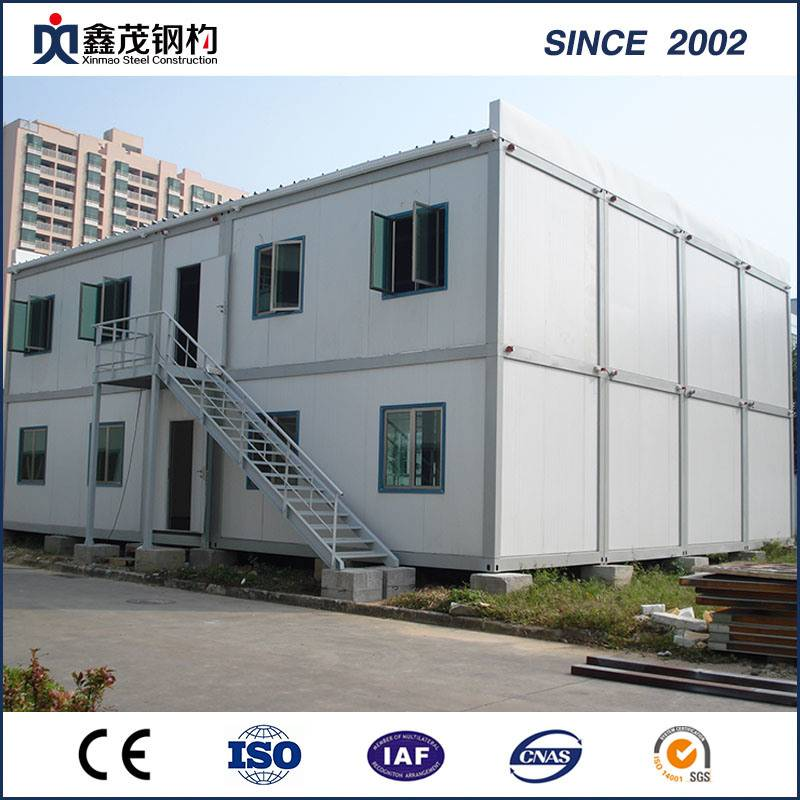 Customized Prefab Container dhomitari Worker House pamwe Bedroom Kitchen Toilet