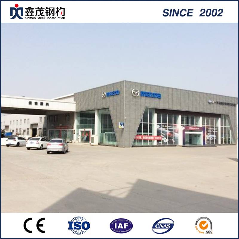 Fashion Prefab Steel Structure 4s Car Display Center