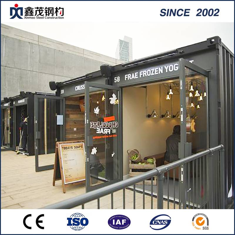 Graceful Modular Prefabricated Flat-Pack Container House for Retail Shop