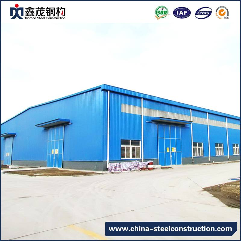 ISO Certified Galvanized Prefab Steel Structure Warehouse with Sanwich Panel Wall