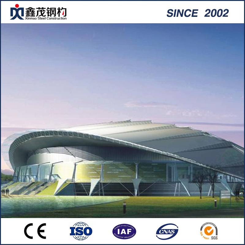Large adịru Nga engineered Prefabricated Steel Structure maka Stadium