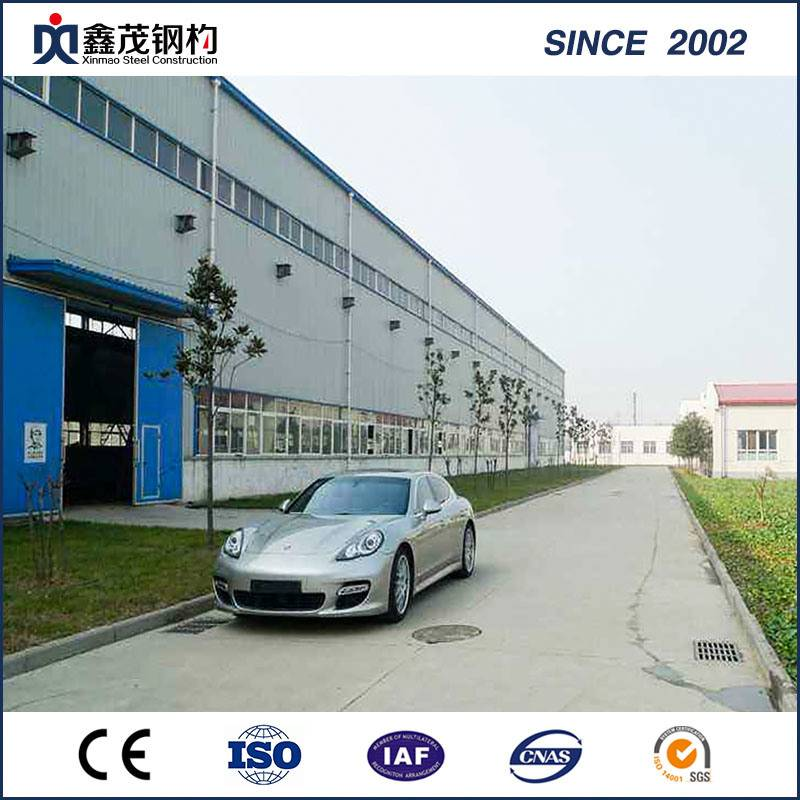 Large Span Prefabricated Steel Structure Warehouse Galvanized Steel Structure