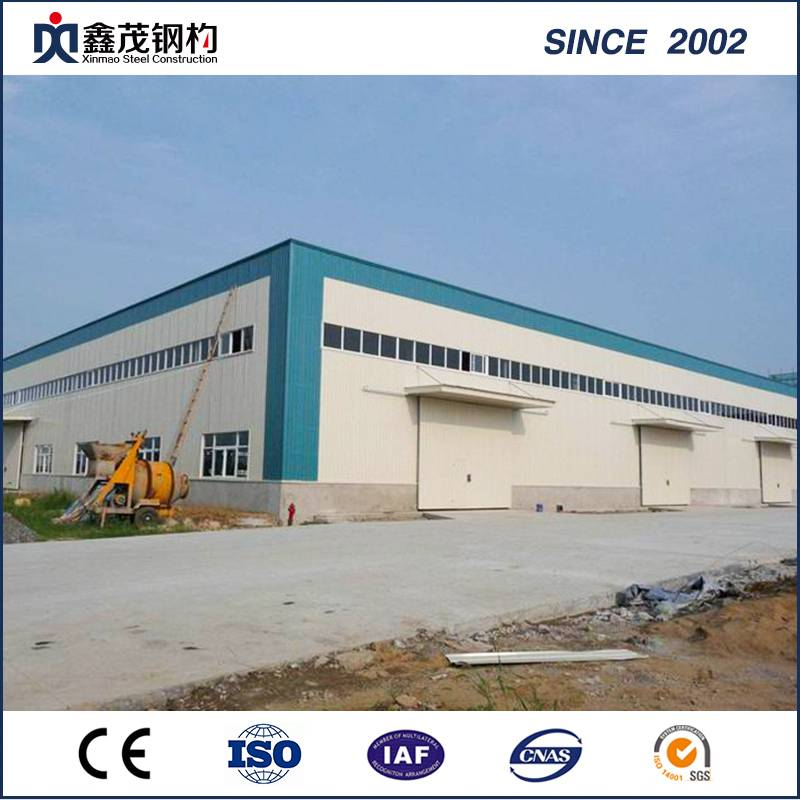 Movable Prefab Industrial Building Steel Structure for Warehouse Steel Building