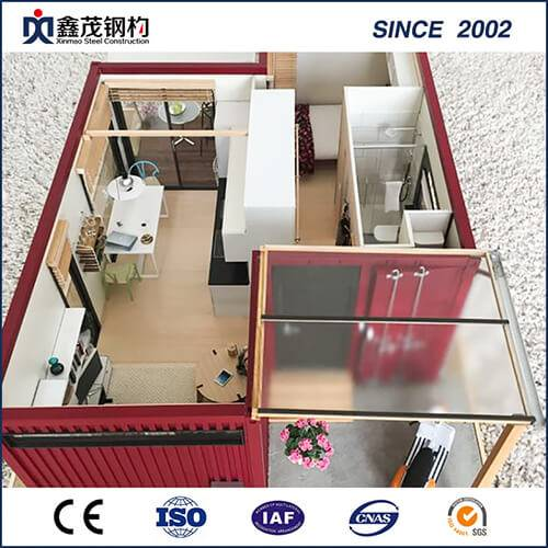 Portable Mobile Prefab Container House mat Buedzëmmer (Container Home)