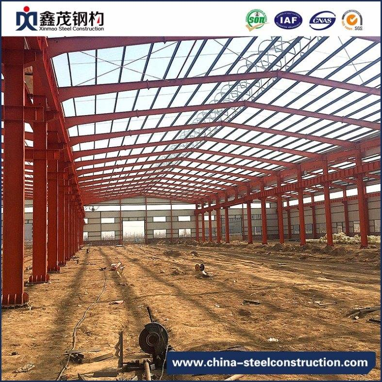 Pre Engineered Steel Structure Construction Workshop Warehouse with ISO Certification