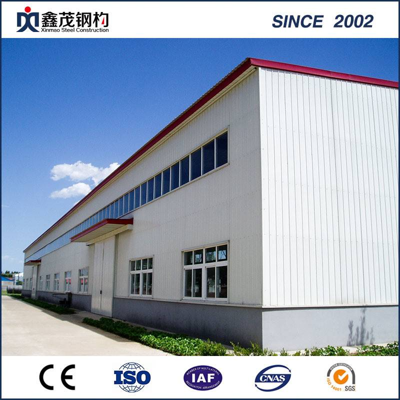 Prefab ISO Certificated Steel Frame Building for Steel Construction Workshop
