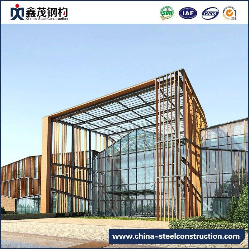 Prefabricated Designed Steel Structure Building for Shopping Mall, Exhibition Hall