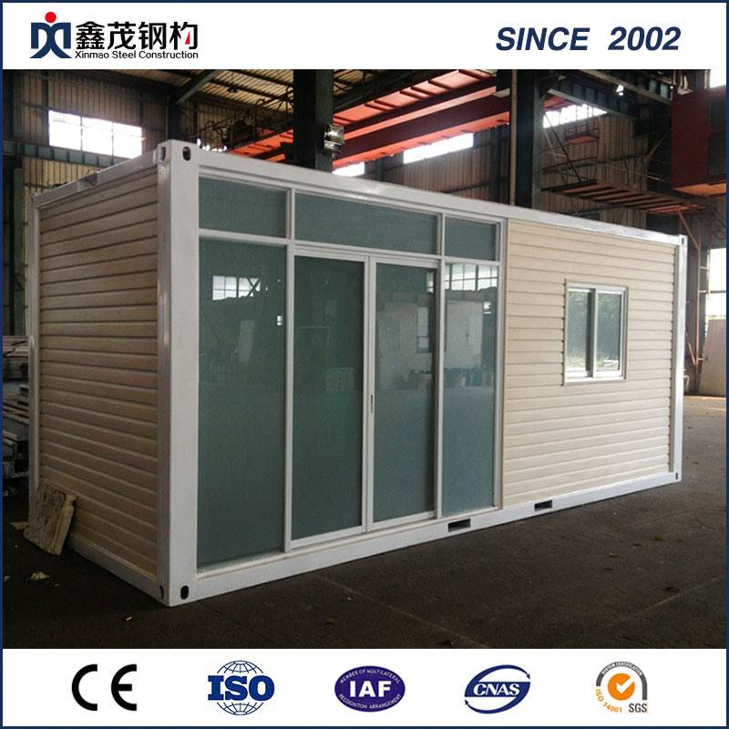 Cheapest Price Container House Made In China - Sandwich Panel Flat Pack Prefabricated Container House for Single Apartment – Xinmao ZT Steel