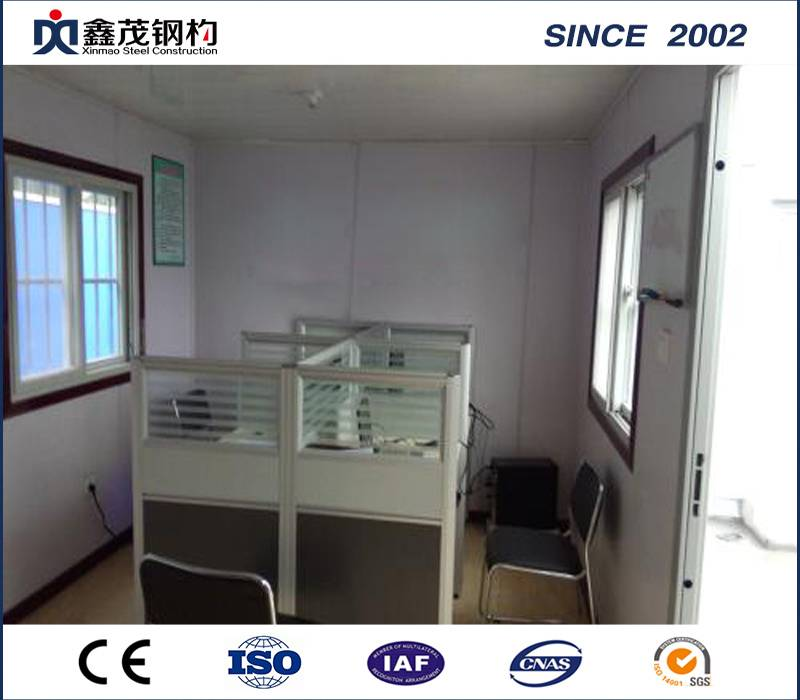 Steel Frame Modular Container Home Container Office for Temporary Purpose