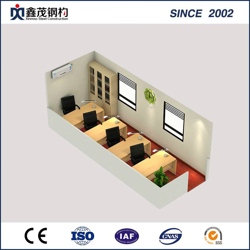 Bottom price Prefab Buildings - Temporary Purpose Prefabricated Container House Office with Steel Frame – Xinmao ZT Steel