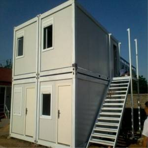Mobile Prefab Steel Container House alang sa Hotel o Workshop o Dormitory