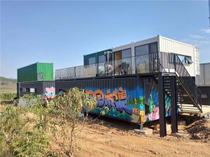 prefab luxury shipping container container para sa shopping mall sa mga burol